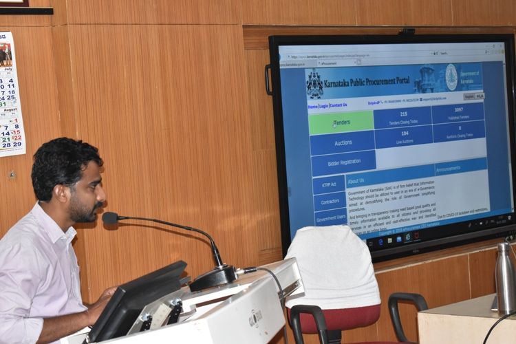 Training Programme  on  Implementation of e-Procurement and e-Office @UAS, Dharwad