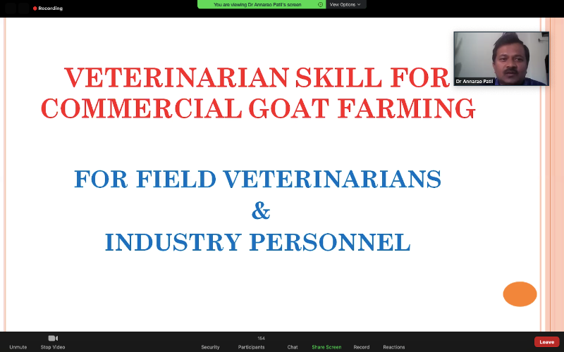 Skill Development Course for	Field Veterinarian & Industry Personnel at College of Agriculture, Vijayapur