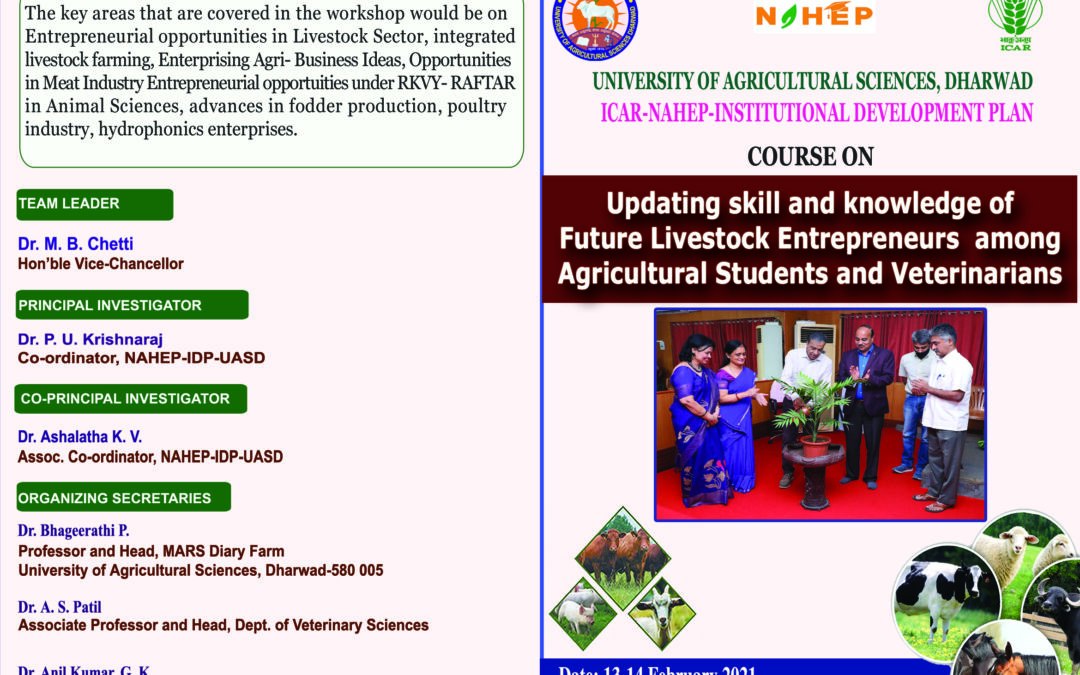 Course  on  Updating Skill and Knowledge of Future Livestock Entrepreneurs among Agriculture Students and Veterinarians