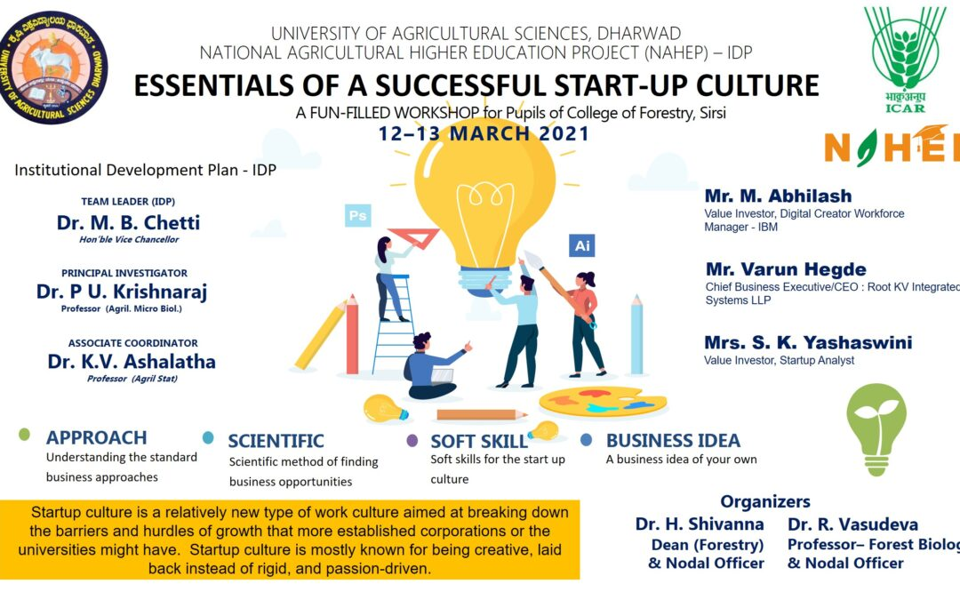 Workshop on Essentials of a Successful Start-up Culture among Students