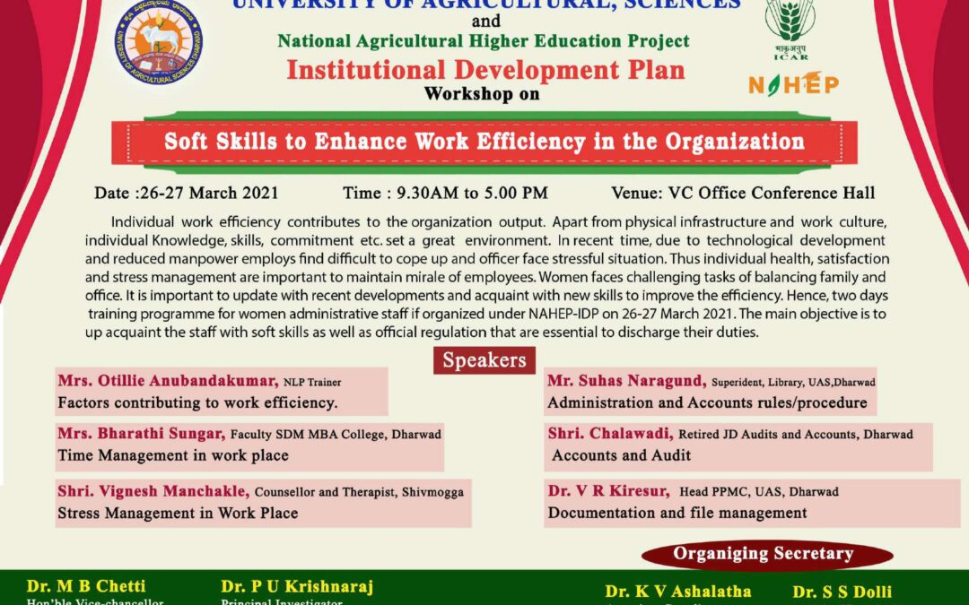 Workshop on Soft Skill to Enhance Work Efficiency in the Organization