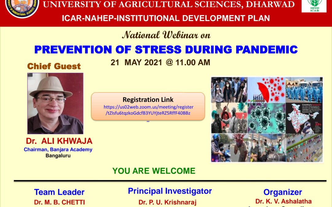 National Webinar on Prevention of Stress during Pandemic