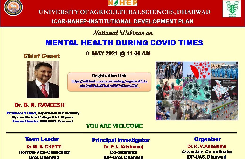 National Webinar on Mental Health during Covid Times